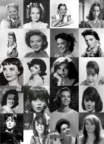 Natalie Wood wallpaper entitled Her hairstyles from 1940s to 1970s