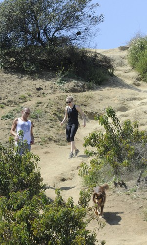 amanda seyfried wallpaper possibly with an zaitun and a live oak titled Hiking In Runyon Canyon