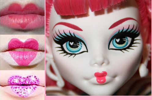 How To Make Cupids Lips - monster-high photo