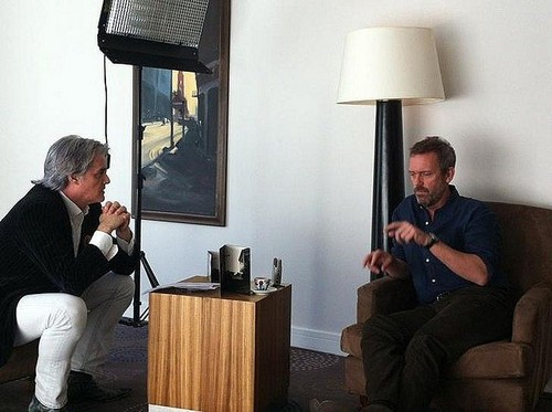 Hugh Laurie and Roberto Pettinato- Nov.2011