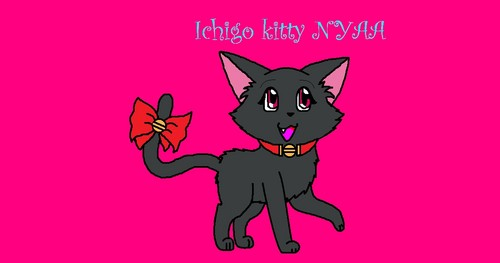 I drew Ichigo (kitty form) :3