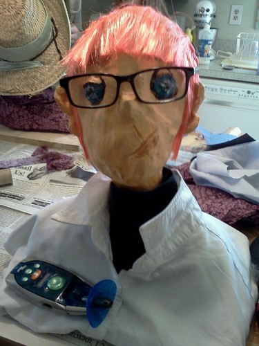 I made a bust in art class...I chose Dexter!