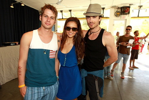 Ian Somerhalder and Nina Dobrev images Ian&Nina at Coachella Pool Party wallpaper and background photos