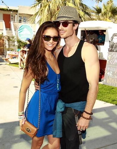 Ian&Nina at Coachella Pool Party