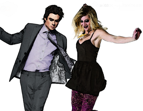 Ian Somerhalder and Heather Morris