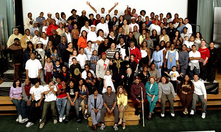 Jackson family. what a big family!! o-O