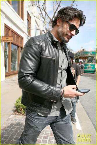 Joe Manganiello achtergrond possibly with a hip boot, a business suit, and a straat entitled Joe Manganiello: Upcoming 2012 Films!