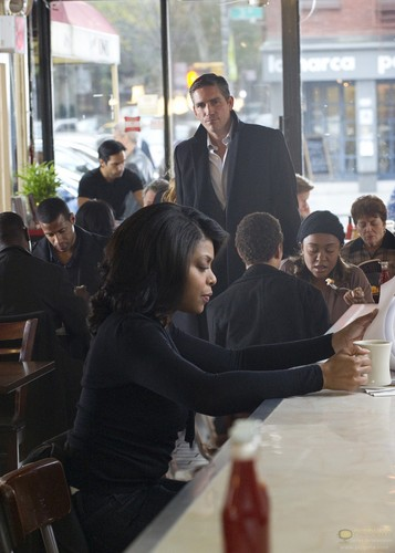 "John Reese wallpaper with a business suit, a diner, and a brasserie called John Reese || 1x12 ""Legacy"""