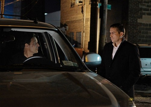 "John Reese wallpaper possibly with a cab, a street, and a sedan called John Reese || 1x17 ""Baby Blue"""