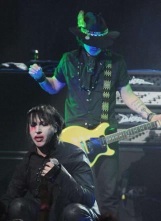 Johnny Depp & Marilyn Manson Rock Out in Los Angeles