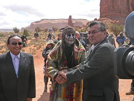 Johnny Depp Receives Gifts from 'Star Struck' Navajo Visitors