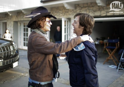 Johnny Depp in the video for Paul McCartney's My Valentine