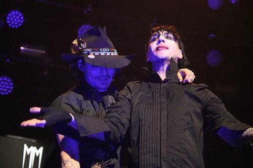 Johnny Depp with Marilyn Manson