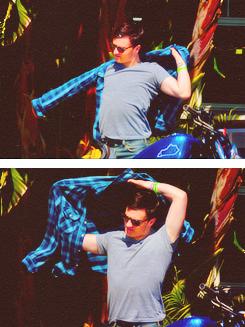 Josh riding his motorcycle