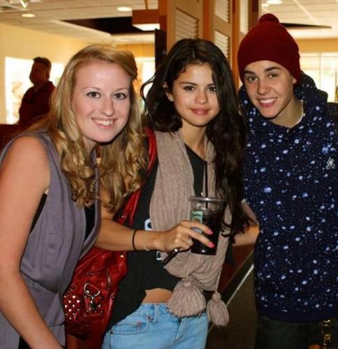 Justin and Selena Gomez