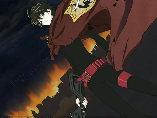 Kamui and Subaru wallpaper containing anime titled Kamui Shirou (Tokyo Revelations)