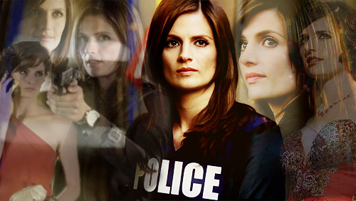 Kate Beckett karatasi la kupamba ukuta containing a portrait called Kate Beckett NYPD