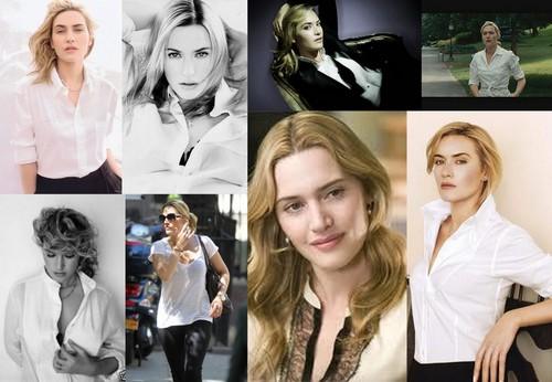 Kate Winslet with áo sơ mi