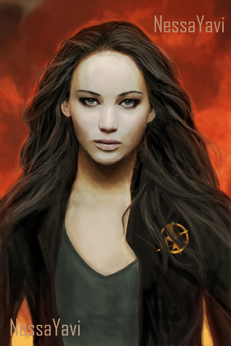 凯特尼斯·伊夫狄恩 壁纸 probably containing a portrait called Katniss Everdeen