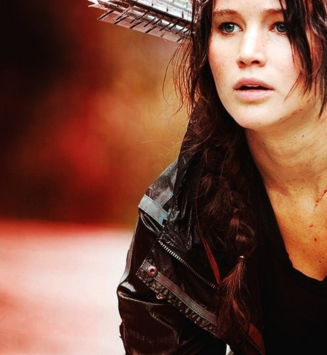 Katniss Everdeen fond d'écran probably with a fedora and a boater titled Katniss Everdeen