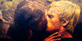Katniss and Peeta kiss - the-hunger-games photo