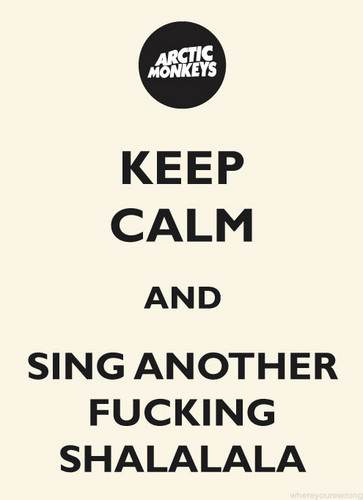 Arctic Monkeys karatasi la kupamba ukuta titled Keep calm...