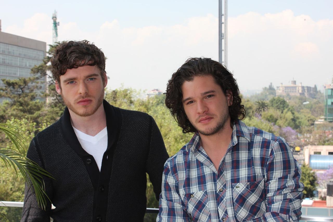 Kit Harington & Richard Madden- Promoting GoT in Mexico City