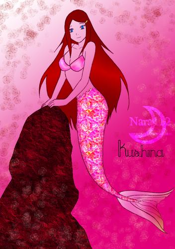 Kushina as mermaid