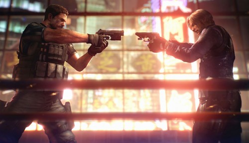 Resident Evil wallpaper called LEON vs. CHRIS - RE6