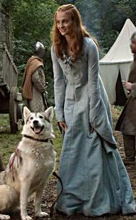 Lady and Sansa Stark