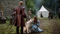 Lady and Sansa with Joffrey - game-of-thrones-direwolves photo