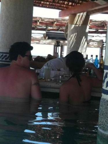 Lea and Cory in a Hot Tub