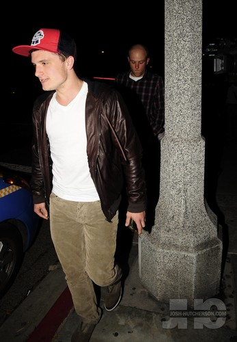 Leaving STK Restaurant In West Hollywood