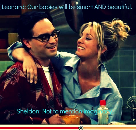 The Big Bang Theory wallpaper containing a portrait titled Leonard and Penny