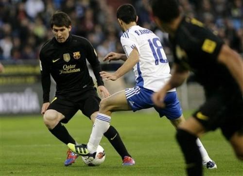 Lionel Messi: Real Zaragoza (1) v FC Barcelona (4)