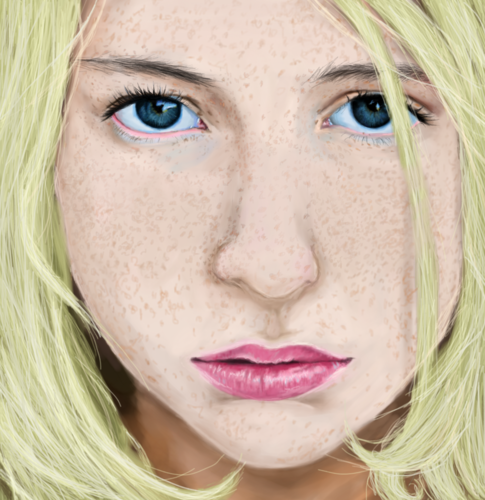 Lissie Close-Up with Freckles