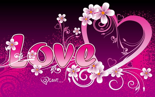 Love heart - love Wallpaper