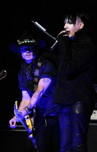 Marilyn Manson Performs With Johnny Depp at 2012 Revolver Golden Gods