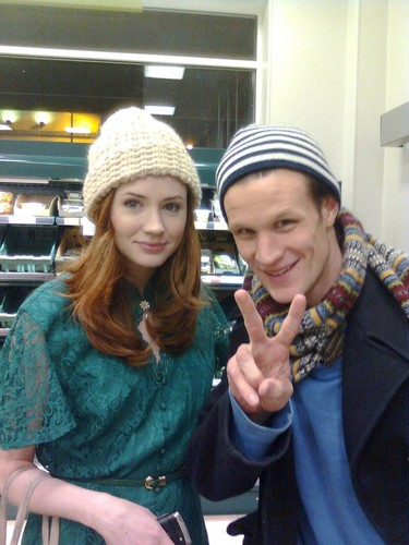 Matt and Karen out and about in Cardiff