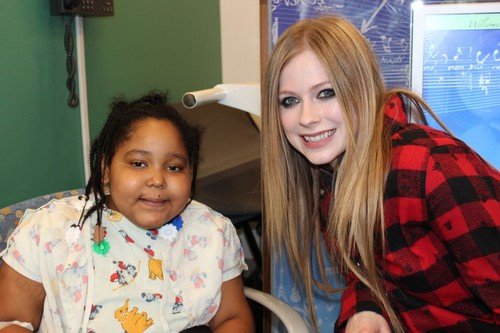 Avril Lavigne wallpaper probably containing a portrait entitled Mattel Children's Hospital UCLA 05.04.2012