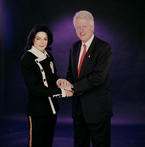 Michael Jackson and President Bill Clinton