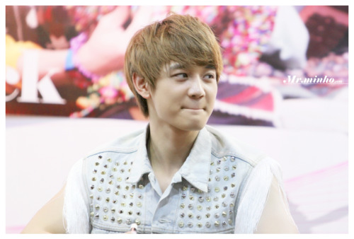 MinHo @ Evan Record Coex Mall tagahanga sign Event(:
