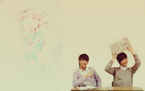 Choi Minho wallpaper probably with a sign, a lectern, and a packing box titled Minho & Key