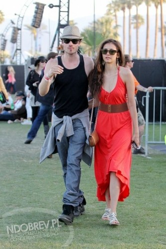 Ian Somerhalder and Nina Dobrev images More Nian at Coachella! wallpaper and background photos