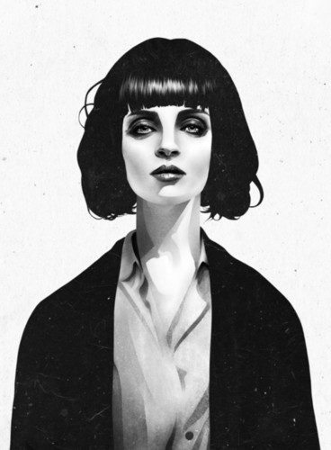 Mrs Mia Wallace Art Print سے طرف کی Ruben Ireland