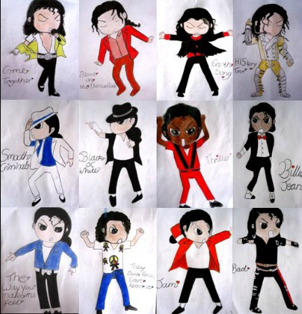 My MJ Drawingss :')