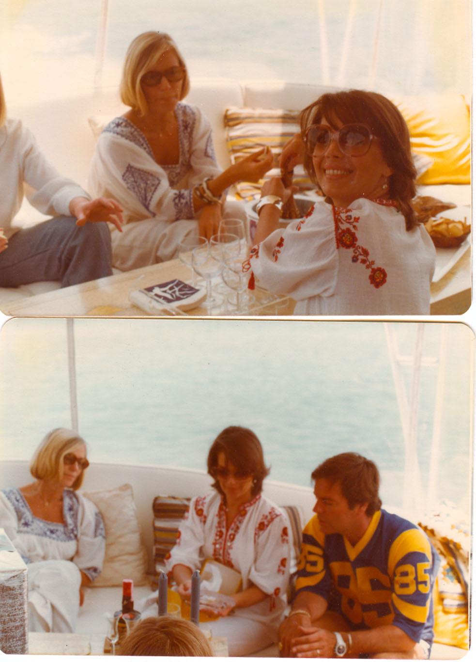 Nat celebrating her 5th wedding anniversary in 1977