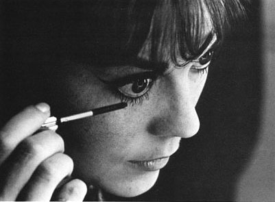 Nat doing her eye make-up