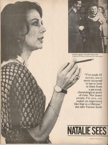 Natalie Wood wolpeyper called Nat in magazine