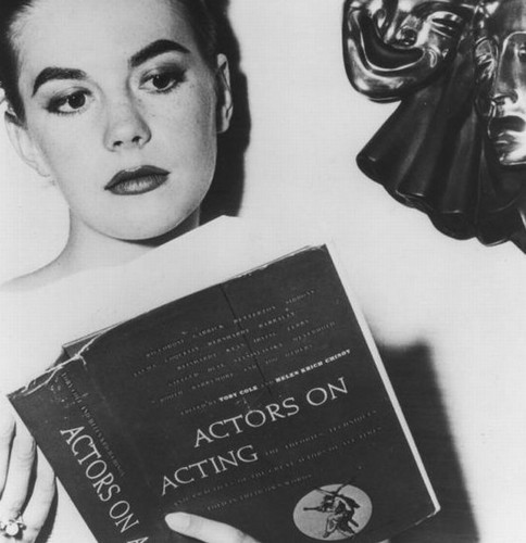 "Nat is reading ""Actors on Acting"""